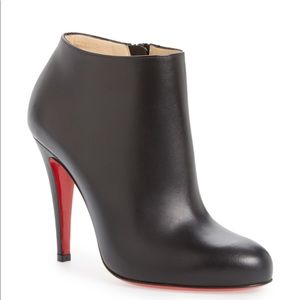 CHRISTIAN LOUBOUTIN BELLE BLACK BOOTIES 100MM